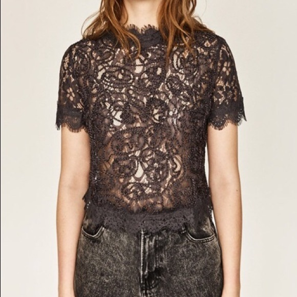 594803b402 ... Embroidered Lace Top. M 5a7279ff077b9795e7925635